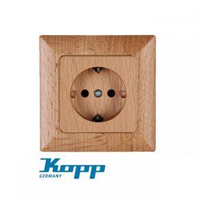 Kopp Πρίζα Σούκο Μονή Από Ξύλο Σε Διάφορα Χρώματα 16A 250V HK02