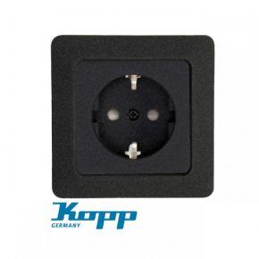 Kopp Πρίζα Σούκο Προστασίας Μονή Σε Διάφορα Χρώματα 16A 250V HK02