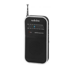 Audioline Αναλογικό Ραδιόφωνο Τσέπης AM/FM Μαύρο