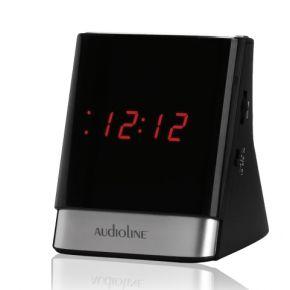Audioline Ραδιορολόι FM Με USB TR-630U