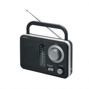 Audioline Φορητό Ραδιόφωνο Μπαταρίας Και Ρεύματος Μαύρο με Ασημί TR-412