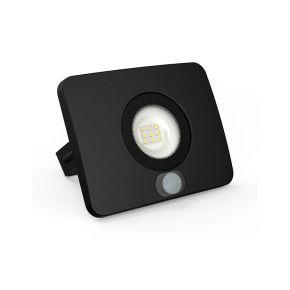 Lumax LED Προβολέας Με Αισθητήρα Κίνησης 10W IP65 Θερμό Λευκό