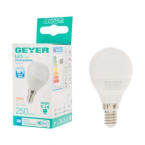 GEYER LED Λάμπα Σφαιρική 3W E14