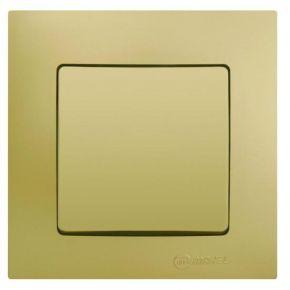 Lillium Διακόπτης Απλός Χρυσό Ματ