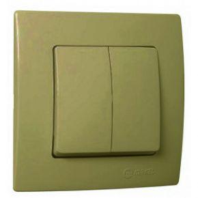 Lillium Διακόπτης Διπλός A/R Χρυσό Ματ