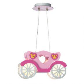 Lucas Κρεμαστό Παιδικό Φωτιστικό E27 Άμαξα Πριγκίπισσας