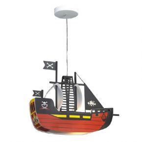Lucas Κρεμαστό Παιδικό Φωτιστικό E27 Πειρατικό Καράβι