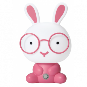 Lucas LED Φωτιστικό Επιτραπέζιο Παιδικό Κουνελάκι E14 230V Ρόζ