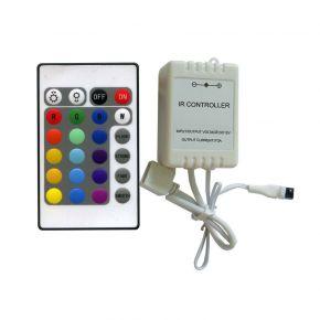 Lucas LED Mini RGB Controller με Τηλεχειριστήριο IR 6A
