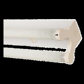 Lucas Σκαφάκι για 2x18W T8 LED Λάμπες Φθορισμού Διπλό 1200mm