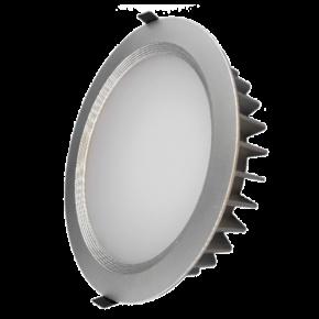 Lucas Στρογγυλό LED Panel 25W Downlight Σατινέ