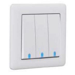 Makel British Standard Διακόπτης Με Φως 3G A/R Λευκός