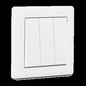 Makel British Standard Διακόπτης 3G A/R Λευκός