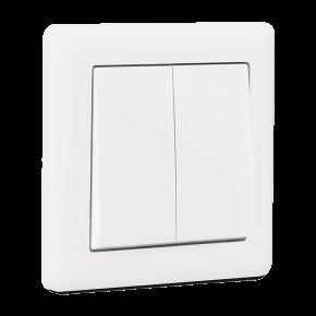 Makel British Standard Διακόπτης 2G A/R Λευκός