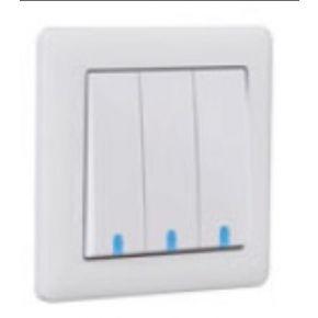 Makel British Standard Διακόπτης Με Φως 3G Λευκός