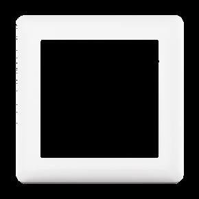 Makel British Standard Μονό Πλαίσιο Πρίζας Λευκό