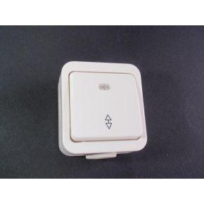 BAS AQUA Επίτοιχο Στεγανό Μπουτόν Φωτισμού Με Λαμπάκι 220V IP54