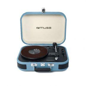 Muse Πικάπ - Bluetooth Με USB MT-201BTB Μπλε