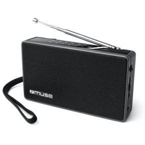 Muse Ραδιόφωνο M-030R Μπαταρίας και Ρεύματος Μαύρο Αναλογικό