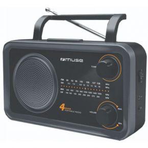 Muse Ραδιόφωνο M-06DS Μπαταρίας και Ρεύματος Αναλογικό