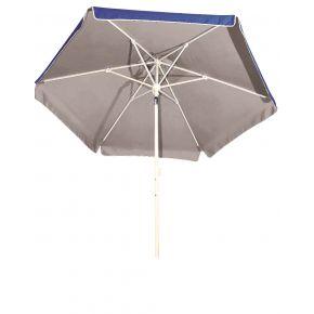 Ομπρέλα Βεράντας-Κήπου-Θαλάσσης Mε Εσωτερική Ασημί Επίστρωση Μεταλλική 2Μ Μπλέ