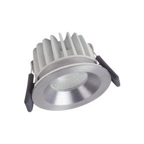 Osram LED Χωνευτό Spot Fireproof DIM 8W IP65/IP20 Ασημένιο Αλουμίνιο