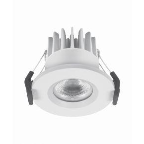 Osram LED Χωνευτό Spot Fireproof DIM 8W IP65/IP20 Λευκό Αλουμίνιο