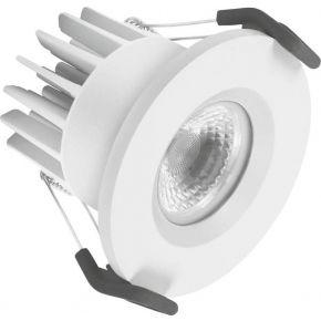 Osram LED Χωνευτό Spot Fireproof FIX 7W IP65/IP20 Λευκό Αλουμίνιο