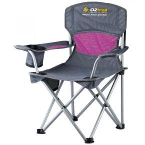 Oztrail Καρέκλα Πτυσσόμενη Με Μπράτσα Deluxe Junior Ροζ