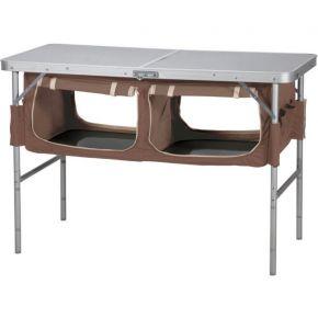 Oztrail Τραπέζι Ραφιέρα Πτυσσόμενο 120x60cm