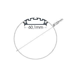 ACA Προφίλ Αλουμινίου Με Οπάλ Κάλυμμα VELOR P120
