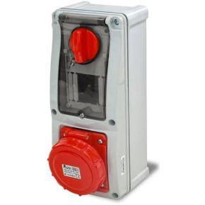 Rosi Πριζοδιακόπτης Με Μανδάλωση Με Ασφάλειες 32A 3P+T 380-415V 6h IP55