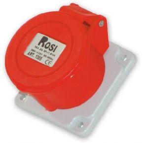 Rosi Πρίζα Θηλυκή Πίνακος Βιομηχανικού Τύπου Ευθεία 90° IP44 3x16