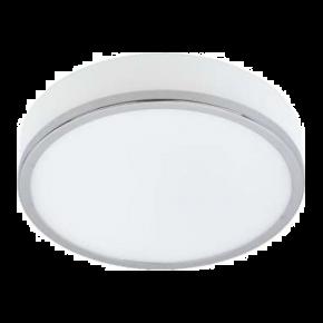 SL LED Πλαφονιέρα 2x7W E14 Mέταλλο και Γυαλί Χρώμιο