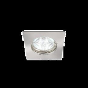 SL Spot Οροφής Xωνευτό GU10 IP20 Τετράγωνο Nickel Mat