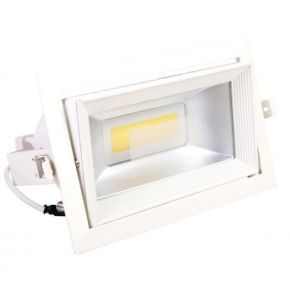Spacelights Παραλληλογράμμο LED Panel 40W Χωνευτό COB