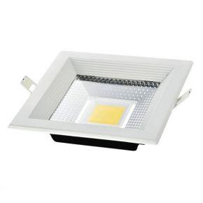 Spacelights Τετράγωνο LED Panel 30W Χωνευτό COB