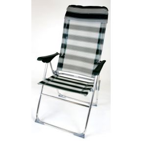 Summer Club Καρέκλα Παραλίας Αλουμινίου Ψηλή – Ανακλινόμενη