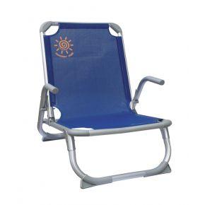 Summer Club Καρέκλα Παραλίας Αλουμινίου Χαμηλή Με Ενίσχυση