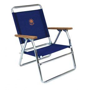 Summer Club Καρέκλα Παραλίας Χαμηλή Αλουμινίου