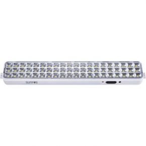 Sunfos Φωτιστικό Ασφαλείας LT-9860K 60 LED Μπαταρία Λιθίου