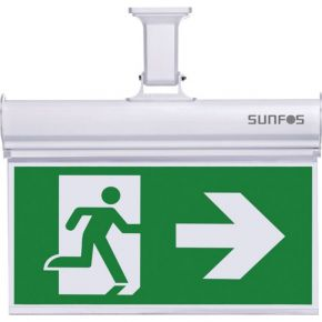 Sunfos Φωτιστικό Ασφαλείας/Πινακίδα SUEL-30147 Με 2 Σετ Σημάτων 10 LED 1.2V 1000ΜAH