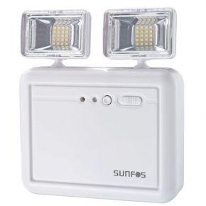 Sunfos Φωτιστικό Ασφαλείας SUEL-30146 40 Led Μπαταρία Λιθίου 3.7V 2.2AH