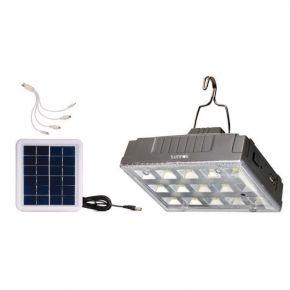 Sunfos Ηλιακή Λάμπα LED 2W 6V με USB και 2 Επίπεδα Φωτισμού