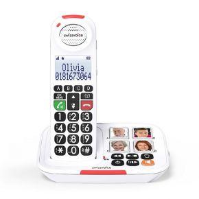 Swissvoice Ασύρματο Τηλέφωνο DUO Xtra 2155 Λευκό