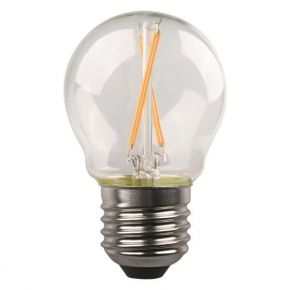 Eurolamp LED Λάμπα Σφαιρική Crossed Filament 4.5W E27 Clear