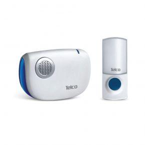 Telco Ασύρματο Κουδούνι Μπαταρίας Αδιάβροχο 30m Μπλε με Λευκό D-218