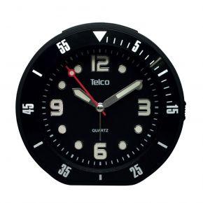 Telco Αθόρυβο Αναλογικό Ρολόι με Rubber 2809