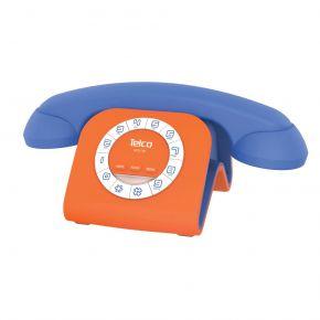 Telco Ενσύρματο Τηλέφωνο Jack για Smartphone Πορτοκαλί Μπλε GCE 3100
