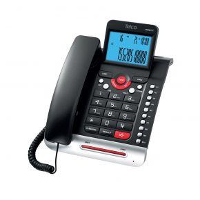 Telco Ενσύρματο Τηλέφωνο Δίγραμμο Με Αναγνώριση Κλήσης Μαύρο GCE6211T